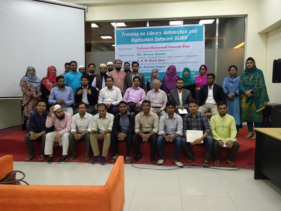 Training on Library Automation and Digitization Software SLiMS held at East Delta University